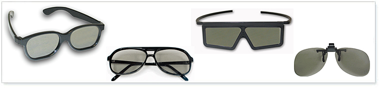 Plastic Polarized 3D Glasses